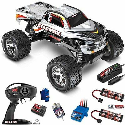 Traxxas 36054-1 1/10 Stampede 2WD Truck Silver RTR w/ TQ TX+ Extra iD Battery