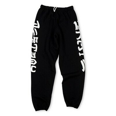 "New THRASHER SKATEBOARD MAGAZINE ""Skate and Destroy"" Black Sweatpants: Size XL"