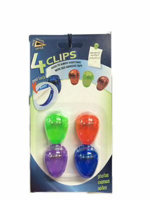 24 packs of 4 clips self adhesive 4 colours 3cm bulk wholesale lot