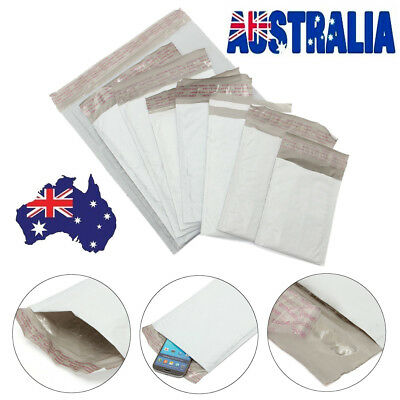 White Poly Bubble Mailers Mailing Envelopes Padded Plastic Self Seal Postage Bag
