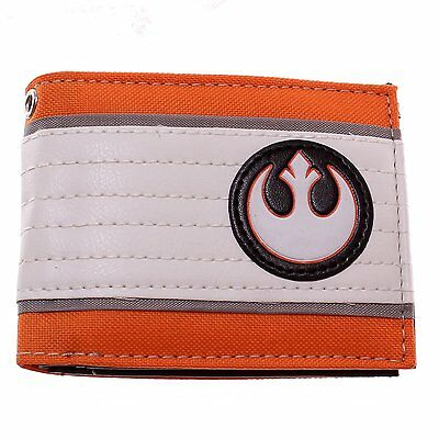 Star Wars Rebel Alliance Logo Galactic Empire Cosplay Bifold Wallet Bag Purse