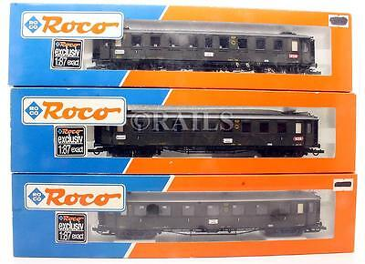 Roco 'ho' Gauge Rake Of 3 Assorted Dr Passenger Coaches (1Y)