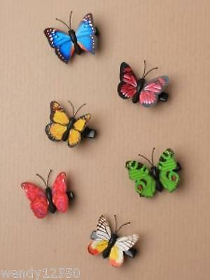 PACK OF 6 BRIGHT COLOUR BUTTERFLY 4cm BEAK CLIPS, HAIR ACCESSORY - SP-5971 PK6
