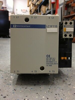 Square D LC1F115, 175 AMP, 600 VAC, 115-120V 50-60 Hz Coil, 3 Phase Contactor