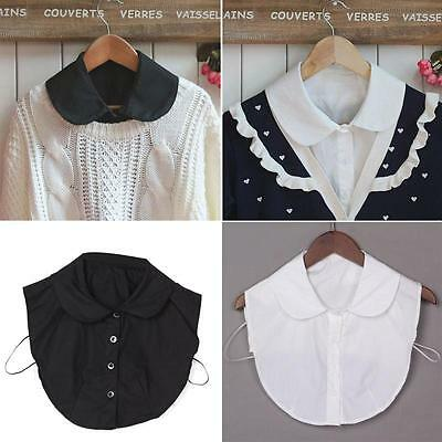 Women Half Shirt Blouse Detachable Fake Lapel Collar Necklace Peter Pan Choker