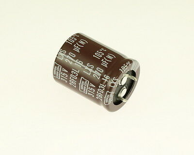 5x 330uF 400V Radial Snap In Mount Electrolytic Aluminum Capacitor mfd DC 105C