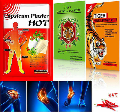 Capsicum & Herbal Plasters Hot Pain Relieving Patches Muscle Relief Belladonna
