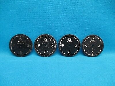 Lot of Four 8 Day Mechanical Clock Faces Dials Face AN5743-T1A (16284)