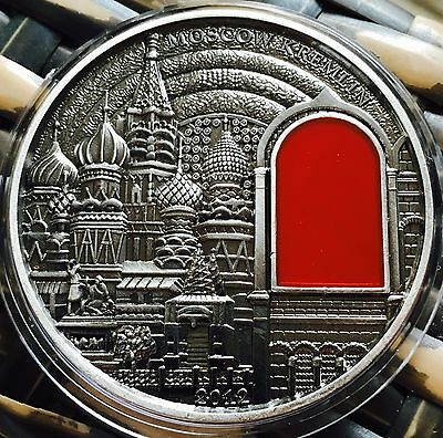 Art Moscow Kremlin 2012 Coin Finished In Silver .999 2oz Collectable Medallion