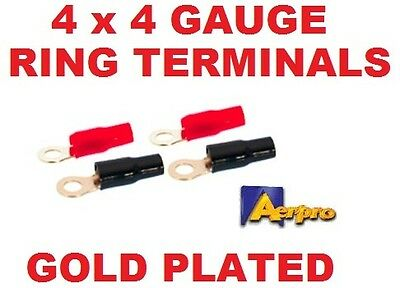 Aerpro Ap4Grt 4 Ga Gauge Awg Ring Terminal Pack Of 4 Power Wire Battery Cable