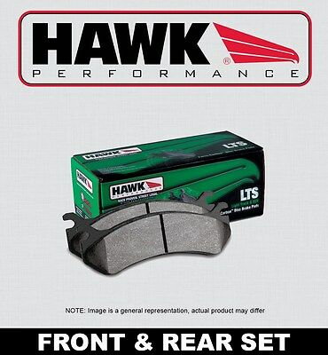 for 03-16 Toyota 4Runner Front /& Rear Set Hawk LTS Truck//SUV Brake Pads