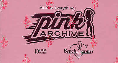 HOBBY BOX 2015 Benchwarmer PINK ARCHIVE TradingCards FACTORY SEALED Bench Warmer