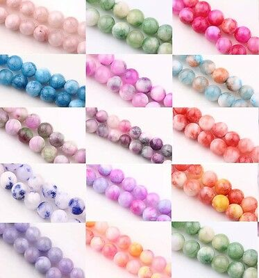 Wholesale Natural Gemstone Round Spacer Loose Bead Charm Finding Craft 6/8MM DIY