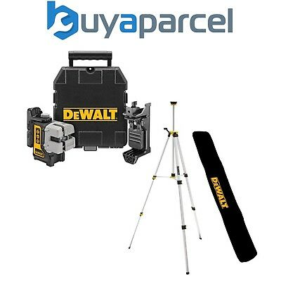Dewalt DW089K-XJ 3 Beam 3 Way Self Levelling Multi Line Laser + Bracket + Tripod