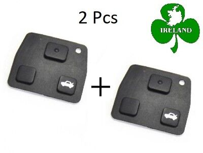 2 Pcs Replacement Remote Key Fob Silicon Rubber Pads For Toyota Key 2 3 Buttons