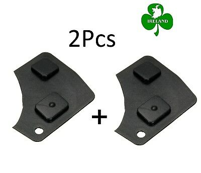 2 Button Remote Key Accesso Fob Repair Kit Switch Rubber Pad For Toyota