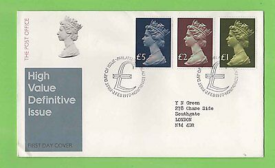 GB 1977 High Value Definitives set on Post Office First Day Cover Bureau Cancel
