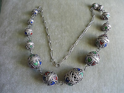 Stunning Handcrafted Necklace/ Mid Eastern Look/ Adjustable
