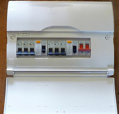 BG 17th Edition 6 Way Consumer Unit Dual 63A RCD High Integrity + 6 MCBs