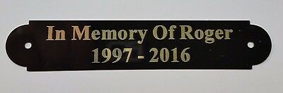 "3/4 x 4"" Engraved Picture Frame Memorial Brass Plate"