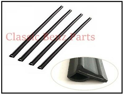Mercedes Benz W114 W115 Window Outside Seals Door Glass Rubber Scraper Brushes