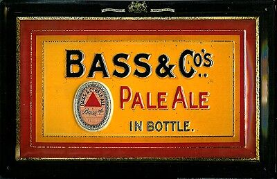 Bass & Co Pale Ale embossed steel sign 300mm x 200mm (hi)