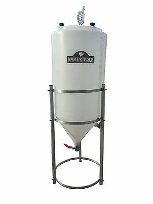 Conical Fermenter tank with Steel Stand 80 L Winemaking Homebrewing Beer Wine