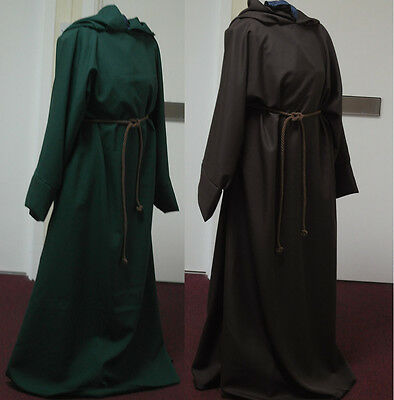 Unisex Merlins Medieval Closet Pull Over Robe grey/Black Polyester Cosplay/larp