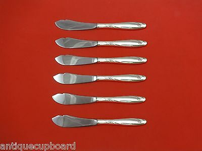 """Willow by Gorham Sterling Silver Trout Knife Set 6pc. HHWS  Custom Made 7 1/2"""""""