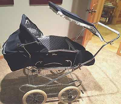 Vintage Italian Peg Perego Pram Baby Carriage and Stroller GREAT CONDITION!