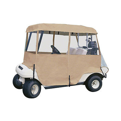 Classic Accessories 72072 Fairway Deluxe 4-Sided Golf Car Enclosure, Sand