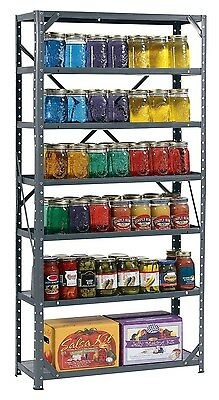 Heavy Duty Metal Steel Rack 7 Shelves Storage Garage Home Kitchen Shelf Unit