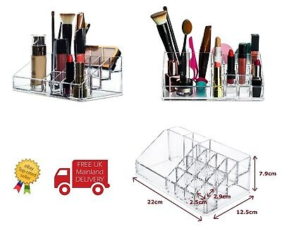 Lipstick Organiser Acrylic Cosmetic Makeup Display Stand 16 Sections - UK SELLER