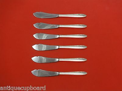 """Spring Serenade by Lunt Sterling Silver Trout Knife Set 6pc. HHWS  Custom 7 1/2"""""""
