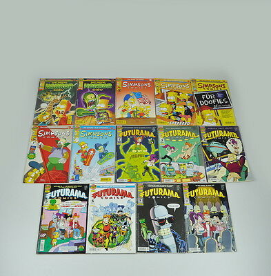 14 x Simpsons & Futurama Comics (inkl. Bart Horror Show) Bongo / Dino - deutsch