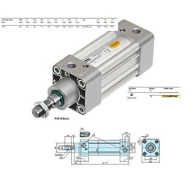Parker Iso Compressed Air Cylinder Double-Acting 40Mm Stainless Steel Piston Rod