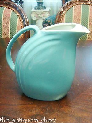 Water pitcher by Hall Pottery in the Nora pattern[*]