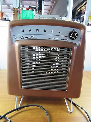 Vtg MARKEL electric air heater  ELECTRIC SPACE HEATER 7IT  120V 1650W USA