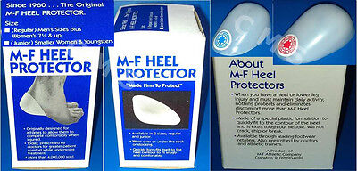 M-F Plastic Athletic Heel Protector Cup Heat Moldable Red Blue Star MF USA JR/LG