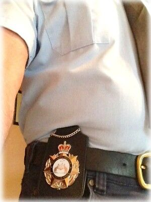 Leather Badge & ID Holder - For your Belt or Neck - THICK LEATHER