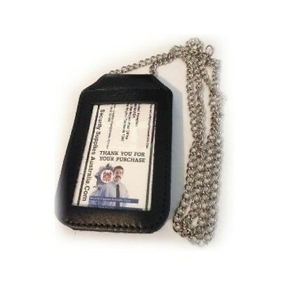 Leather ID Holder - Belt or Neck - You Can Affix a Badge to the Rear