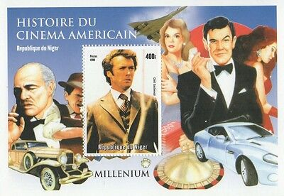 Dirty Harry Movie Icon History Of American Cinema 1999 Mnh Stamp Sheetlet