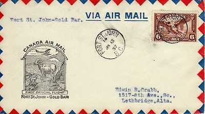 CANADA 1ers vols first flights airmail 112