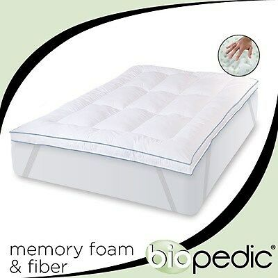 "Queen Size 3"" Inch Deluxe Memory Foam Mattress Protector Bedding Pad Topper"