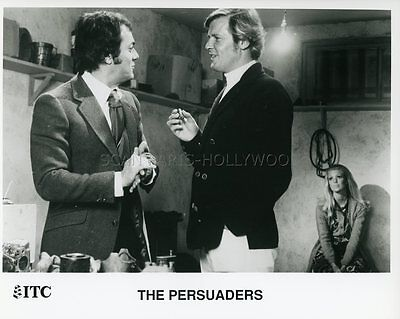 Tony Curtis Roger Moore The Persuaders Amicalement Votre 1971 Vintage Photo #4