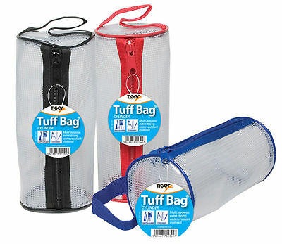 Heavy Duty Reinforced Mesh Tuff Cylindrical Multi Purpose Case with Zip Storage