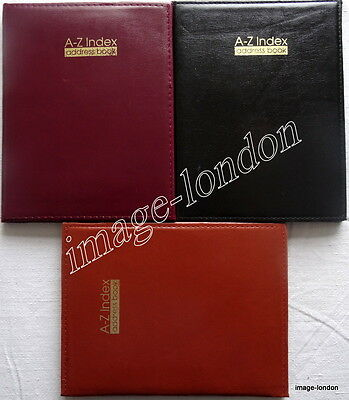 A-Z Index Leather Cover Executive Padded Telephone Address Book Assorted Colours