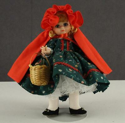 "Vintage Madame Alexander Doll Little Red Riding Hood 8"" Green Dress Sleep Eyes"