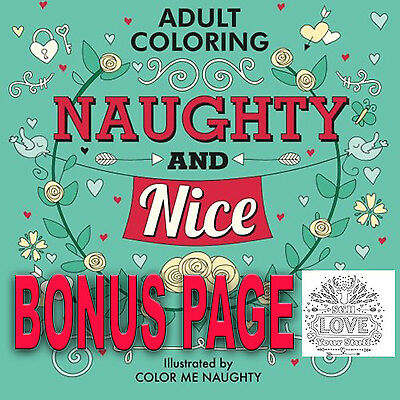 Adult Coloring Book Swear Word Sweary Dirty Cursing Relax Relieving Stress BONUS