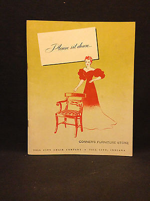 Tell City Chair Company, Indiana vintage 1949 brochure Conner's Furniture Store*